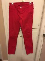Womens J BRAND Skinny Leg SHOCK PINK JEANS Pants size 27
