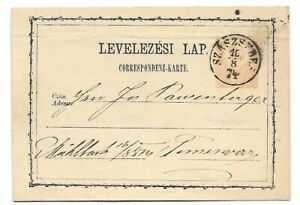 Hungary 2Kr stationery postcard SZASZSEBES 16/8/1874 to Temesvar