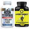 Testosterone Booster Monster Test Men Pills Stronger than NUGENIX + Energy Pills