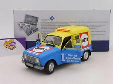 """Solido 1802204 # Renault R4 F4 Kasten Baujahr 1988 gelb-blau """" Darty """" 1:18 NEU"""