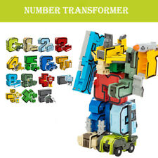 Assembly Puzzle Transformers Robot Numbers Armour Symbols Kids DIY Toy Gift Xmas