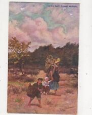 In The Delft Forest Netherlands Gerstenhauer Vintage Art Postcard 405b
