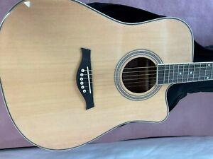 Vangoa Acoustic Guitar, Full Size 41 Inch Cutaway Dreadnought Acoustic Guitar