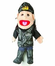"BIKER in LEATHER JEANS PUPPET GL3813 - 14"" ~ Free Shipping/USA ~ SUNNY PUPPETS"
