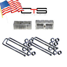 "05+ Toyota Tacoma 4x4 1.5"" rear lift block kit 07 08 09 10 U-bolts ""B"" Square"