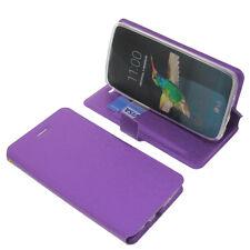 Funda para LG K8 Book Style Funda protectora Teléfono móvil estilo libro Púrpura