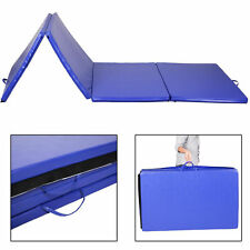 "Goplus 4'x10'x2"" Gymnastics Mat Gym Folding Exercise Mats Stretching Yoga Blue"