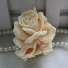 3D Silicone Soap Candle Mold Soap Making Mould DIY Handmade Mold Rose Flower