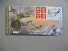 UK GB ENGLAND,  coincover 1995, birth R.J. Mitchell design Spitfire, bookletpane