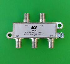 (1 PC) ACE 4-Way 5-1000MHz Cable TV / Antenna Splitter