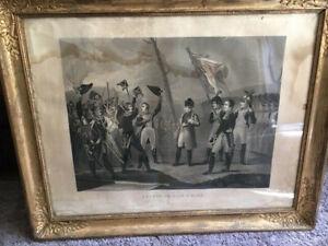 """Gravure Napoléon  """"Retour de l'île d'Elbe"""" par NOIRET 1832"""