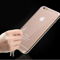 Ultra Thin Clear Crystal Rubber TPU Soft Case Cover For 4.7 iPhone 6/s/Plus 5.5""
