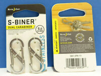 S-Biner SILBER #1 DOPPELPACK Nite Ize USA S-Biner Stainless Steel #1 SILVER 5lb