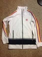 Mens Small Vintage VTG ADIDAS 80s Full Zip Track Jacket Firebird Run DMC Kanye