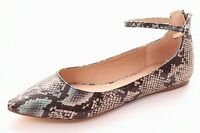 Soft Snake Print Shoe With Ankle Strap And Pointed Toe Sz 5