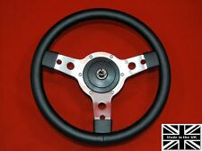 "14"" Classic Vinyl Steering Wheel & Hub. Fits Morgan Plus 4, all years"