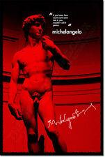 MICHELANGELO ARTE FOTO STAMPA POSTER regalo David Cappella Sistina