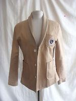 Ladies Jacket - Hurwundeki, size S, dark beige/sand, cotton smart/casual - 0172