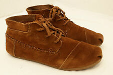 Womens size 8 1/2 TOMS suede leather mid ankle boots