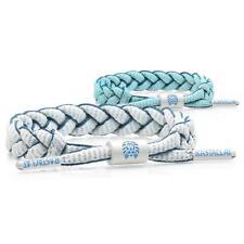 RASTACLAT Dragoon Shoelace Nylon Wristband Bracelet Jewelry UV White Blue NEW