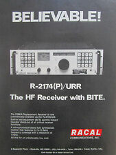 4/1980 PUB RACAL COMMUNICATIONS R-2174(P)/URR HF RECEIVER ORIGINAL AD
