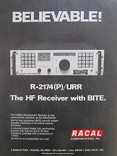 4/1980 PUB RACAL COMMUNICATIONS R-2174(P)/URR HF RECEIVER ORIGINAL AD
