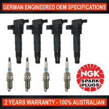 4x NGK Spark Plugs & 4x Ignition Coils for Hyundai Sonata & Kia Rondo Magentis