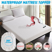 Mattress Protector Microfiber Waterproof Cover Single Double King Queen Soft