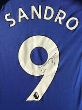 SANDRO RAMIREZ HAND SIGNED EVERTON SHIRT 2017/18 PROOF 1.