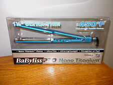 "Babyliss Pro BABNT3073C Nano Titanium 1.5"" Flat Iron Hair Straightener 450f !"