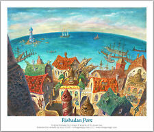 LIMITED EDITION Signed MTG/Magic Mercadian Masques Rishadan Port Print/Giclee