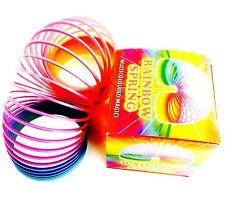 6.5cm in plastica Arcobaleno slinky primavera giocattolo tipo STRECHY Springy Classico Bambini Regalo