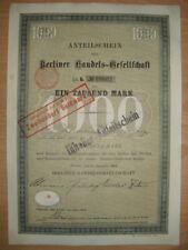 Berliner Handels - Gesellschaft  1908  Berlin    ING  BHF Bank