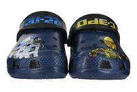 Crocs Classic Star Wars R2D2 C-3PO Clogs Beach Sandals Kids Childrens Size 4-3
