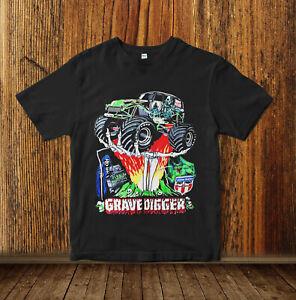 Vintage Shirt Grave Digger Monster Truck1994 Hot Rod Shirt 90s