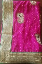 indian saree bollywood wedding  with double color