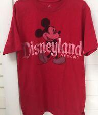 Disneyland Resort Mickey Mouse Mens Unisex Red Tshirt Size S Tee Top EUC
