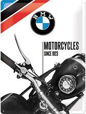 BMW moto dal 1923 grandi in rilievo in acciaio parete sign (na 4030)