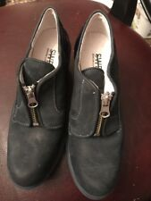 Swear London Suede ,patent Women's Shoes Size 36 With Zipper Open & close