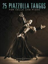 25 Piazzolla Tangos for Cello and Piano Chamber Music Book New 048023697