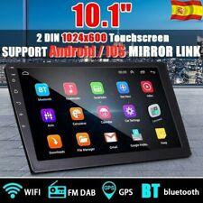 """10.1"""" 2 DIN Android 8.1 GPS Radio de Coche BT Wifi Link Espejo Vidrio templado"""