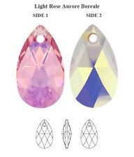 Genuine SWAROVSKI Crystal 6106 Pear Pendant Light Rose AB 16mm