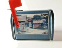 Coca Cola 1999 Vintage Mailbox Tin Canister Small Collectible W/Flag Giftco Inc