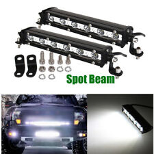 2x 7inch Slim Led Work Light Bar Single Row Offroad Driving Fog Car Truck Lamp