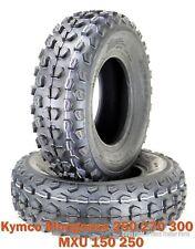 (2) 21x7-10 Kymco Mongoose 250 270 300 MXU 150 250 ATV Front Tire Set 6PR