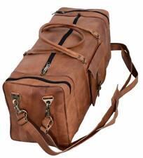 Handmade Vintage Leather Travel Duffel Gym Weekender Overnight Bag For Men Women