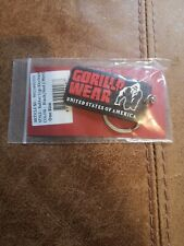 🦍 Brand new. Genuine Gorilla Wear rubber embossed Keychain/ring Black and red