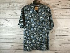 Tommy Bahama Mens Hawaiian Floral Print 100% Silk Shirt Size Medium NWT