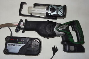 Hitachi CR18DL 18V Cordless Li-Ion Reciprocating Saw +Battery, Charger & Light!
