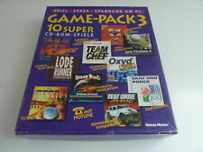 PC CD-ROM 10 Games – Game Pack 3 Deutsch RARE
